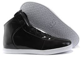 supra black patent leather white