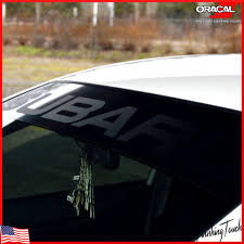Subaru Windshield Vinyl Decal Sticker Window Decal Matte Black Impreza Sti Wrx Ushirika Coop