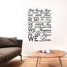 Custom Name Family Rules Wall Decals Wall Decor Stickers