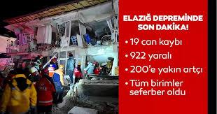 Elazığ | Malatya ve Elazığ deprem ile sabaha kadar sallandı ...