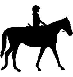 Image result for silhouette of young boy on a horse""