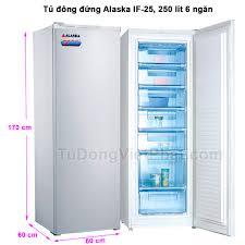 Tủ đông đứng Alaska IF-25, 6 ngăn đông 250 lít - Giá rẻ nhất T8/2020