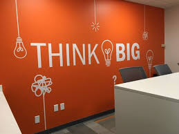 Think Big Wall Decal Office Wall Design Meeting Room Design Office Office Wall Decals