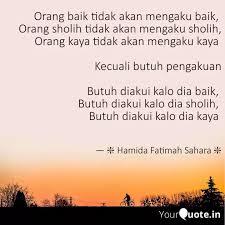 orang baik tidak akan men quotes writings by hamida fatimah