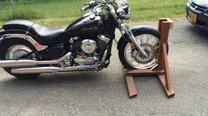 homemade motorcycle stand you