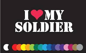 I Love Heart My Soldier Sticker Vinyl Decal Car Window Fun Usa Army Family Ebay