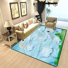Amazon Com Kids Floor Area Rug For Living Room Balloons Clouds Stars Hill Carpet Spots For Kids Classroom W4 X L5 Feet Kitchen Dining