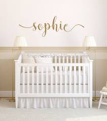 Name Wall Decal Girl Nursery Decal Personalized Name Decal Etsy Nursery Decals Girl Rustic Cottage Style Nursery Wall Decals