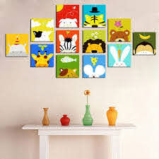 Hot Item Decorative Cartoon Pictures Canvas Art For Kids Room Art Wall Kids Kids Room Paint Kids Room Art