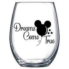 Amazon Com Dreams Come True Mickey Balloon Decal Only Vinyl Sticker For Wine Glass Mug Or Cup Baby