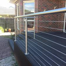 China Simple Flooring Mounted And Stainless Steel Material Cable Railing For Balcony Staircase Outdoor Deck Railing China Railing Stainless Steel Balustrade