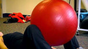 hip adductor exercises on the ball