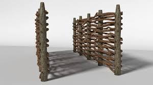 Wooden Fence 3d Model 4 Obj Fbx Blend Unknown Free3d