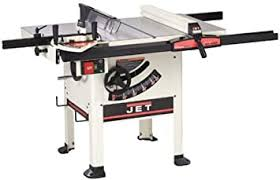 Jet 708777k Jwss 10spf Supersaw 10 Inch Left Tilt 1 3 4 Horsepower Intermediate Saw With 30 Inch Xacta Fence Sliding Table And 2 Cast Iron Extension Wings 115 230 Volt 1 Phase Power Table Saws Amazon Com