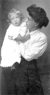 Edith Smith with Hazel Maud