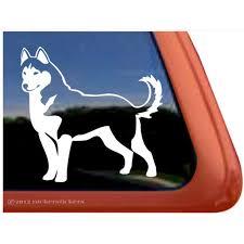Siberian Husky High Quality Vinyl Dog Window Decal Walmart Com Walmart Com