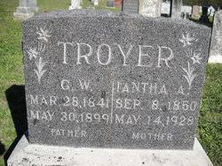 Iantha Adeline Campbell Troyer Gunn (1850-1928) - Find A Grave ...
