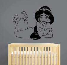 Aladdin Disney Wall Decal Princess Jasmine Vinyl Sticker Etsy