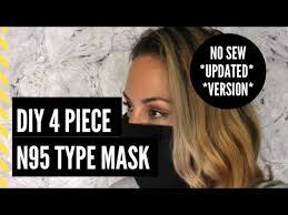 diy no sew n95 type mask updated