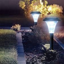 garden solar lights led outdoor pathway