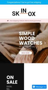 Skinox - Wood Watches Store for Android - APK Download