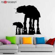 Walkers At At Wall Decal Vinyl Stickers Star Wars Home Interior Art Design Murals Bedroom Wall Decor Wallpaper Removable 3427 Wall Stickers Aliexpress