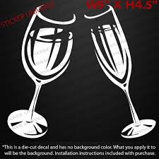 Car Styling For Toasting Wine Glasses Die Cut Decal Bumper Sticker 5 X4 5 Champagne Cheers 0461 Car Styling Bumper Stickerstyling Car Aliexpress