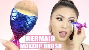 cutest mermaid makeup brush in the