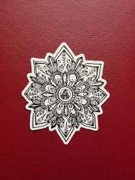 Crystal Mandala Sticker Art Freehand Drawn Car Decal Etsy