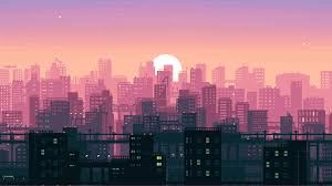 pixel city wallpapers top free pixel