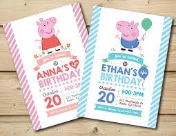 Peppa Pig Or George Pig Birthday Invitation By Honeybeepartyprints