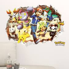 Mural Pokemon Go Characters Wall Art Decor Sticker Decal Boys Bedroom Logo Home Garden Children S Bedroom 3d Decor Decals Stickers Vinyl Art Ayianapatriathlon Com