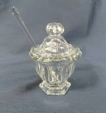 baccarat lidded crystal jam jar with