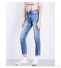 slim pin rewind tapered mid rise jeans