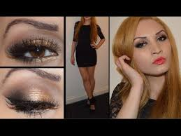 prom 2016 makeup for black dress