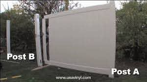 Vinyl Privacy Fence Installation From Www Usavinyl Com Youtube