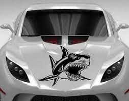 Angry Shark Fish Teeth Vinyl Decal Car Hood Sticker Any Vehicle Auto Decor 1055 Ebay