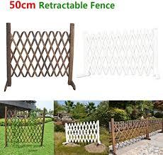 Amazon Com Retractable Expanding Fence Retractable Wooden Gate Door Decorative Fence Pet Safety Fence For Patio Garden Lawn Decoration Garden Outdoor