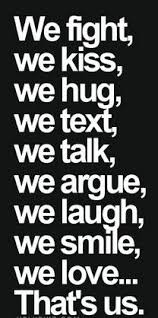 fight kiss love quotes for him • images and text