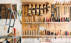 woodworkers work and hand tools