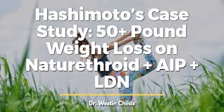 50 pound weight loss on naturethroid aip