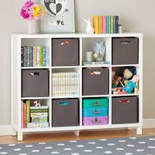 Cubic Tall Bookcase White 12 Cube The Land Of Nod Kids Bookcase Bookshelves Kids Cube Bookcase