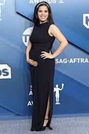 SAG Awards 2020: Pregnant America Ferrera Cradles Her Baby Bump ...
