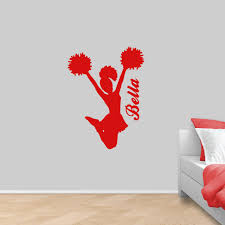 Custom Cheerleader Wall Decal Personalized Cheer Car Decal Sweetums Signatures