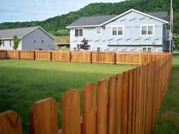 Dog Ear Wood Fencing Products Phillips Outdoor Services Onalaska Wi