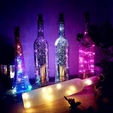 1m 2m diy led wine bottle light