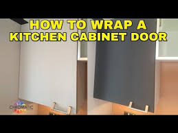 how to wrap a kitchen cabinet door