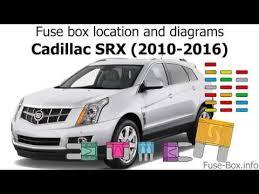 2016 cadillac srx fuse diagram