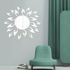 Mural Decal 3d Mirror Wall Sticker Sun Flower Removable Stickers Livingroom Decoration Wall Art Diy Walmart Com Walmart Com