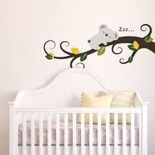 Sleeping Koala And Tree Branch Wall Decal Allposters Com